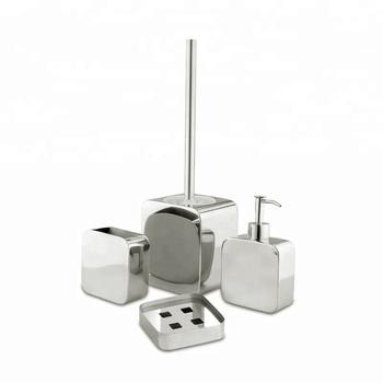 Edelstahl-luxus-bad-accessoires Mit Toilettenbürstenhalter Seifenspender  Seifenschale - Buy Badezimmer Zubehör Set,Edelstahl Wc Pinsel,Bad Zubehör  ...