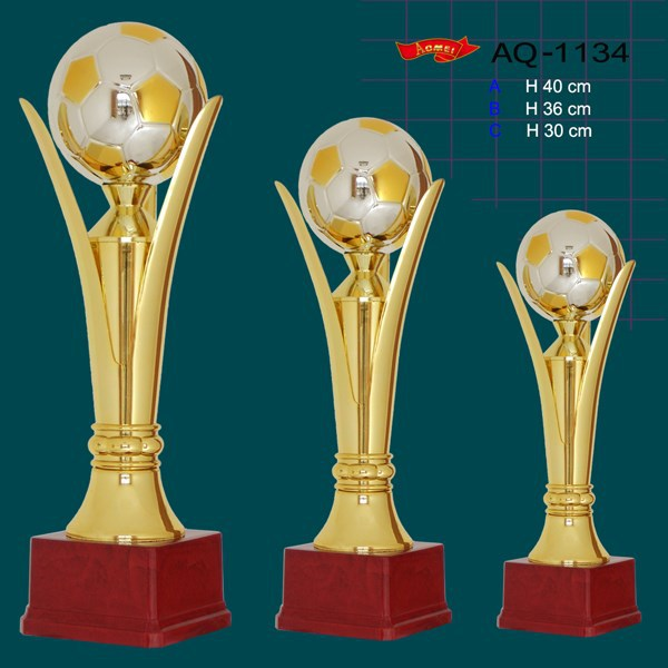 custom design football soccer trophy champions league cup trophy wholesale
