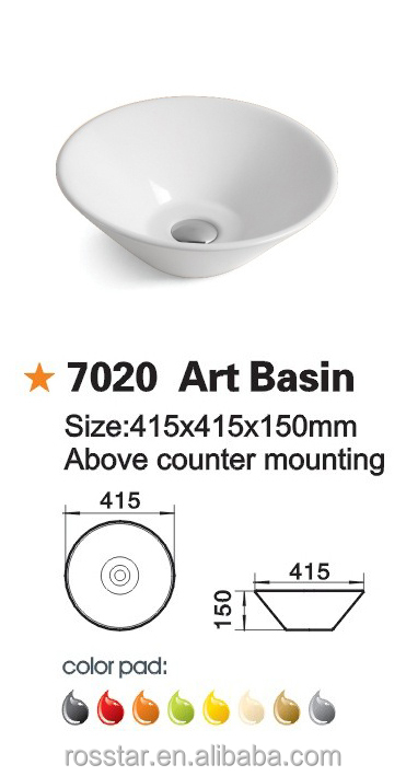 above counter ceramic hand wash art basin RS-7020