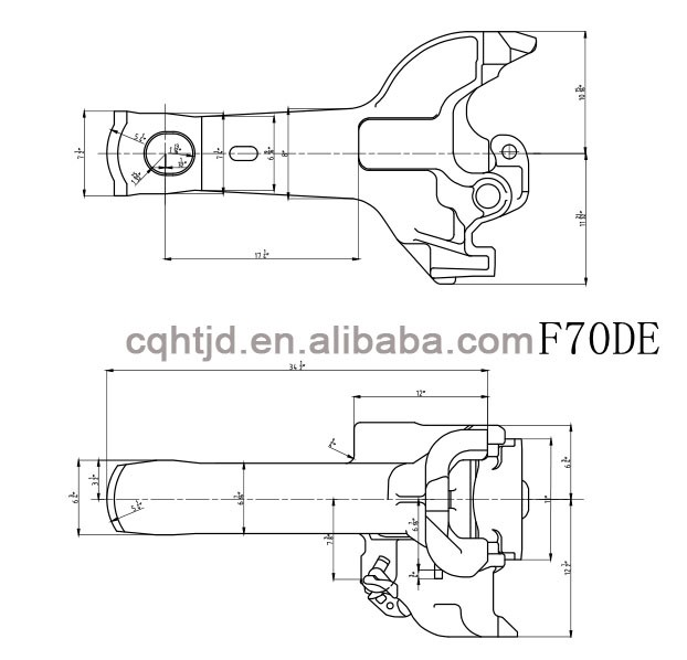 Model Railroad Coupler Types : F de type wagon coupler body for train coupling parts