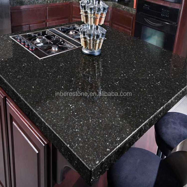 Black Galaxy Granite Kitchen: Quartz Countertops Black Sparkle