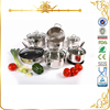 MSF-L3064 unique italan super capsule bottom cookware 10pcs stainless steel cookware set with color painting
