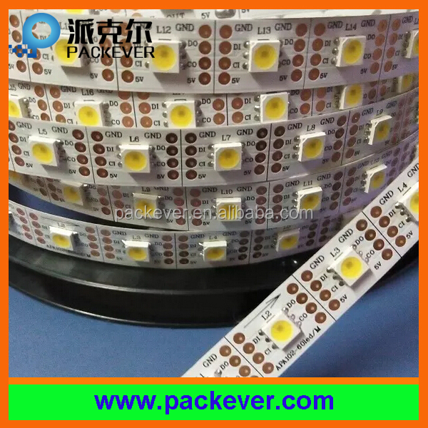 Programmable lead free 5V smd5050 60leds apa102 addressable single color led strip
