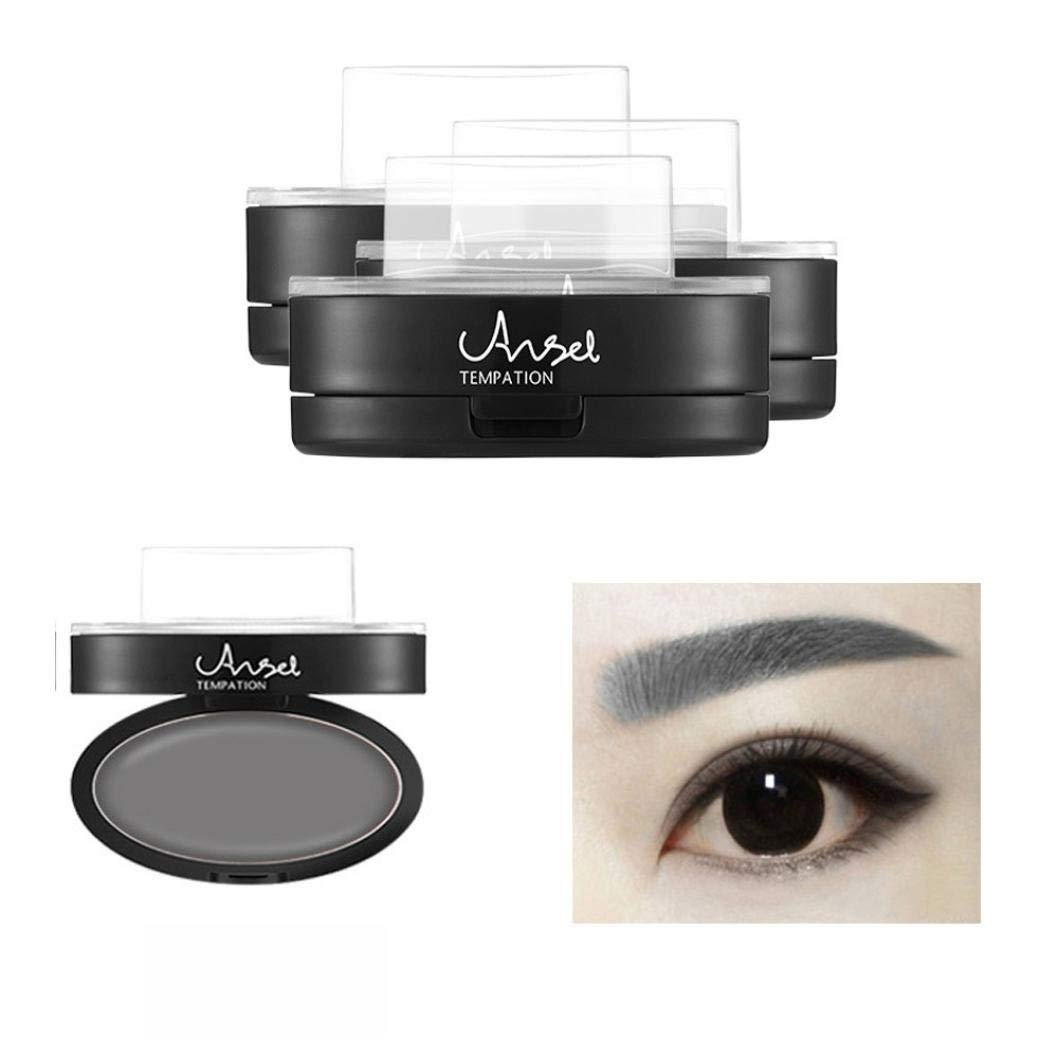 Nesee Brow Stamp Powder Delicated Natural Perfect Enhancer Straight United Eyebrow (Gray)