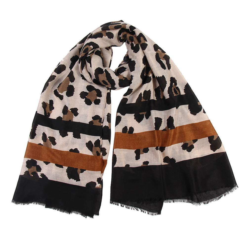 Clearance Leopard Print Scarf DEATU Women Winter Warm Scarves Ladies Long Wraps Shawl Hot Sale