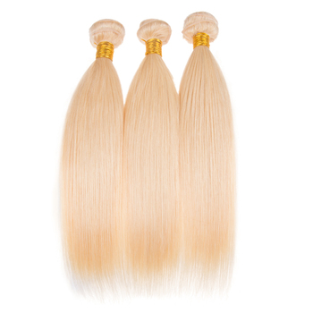 Factory wholesale High quality 100% brazilian cuticle aligned raw virgin hair 613 blonde human hair extension