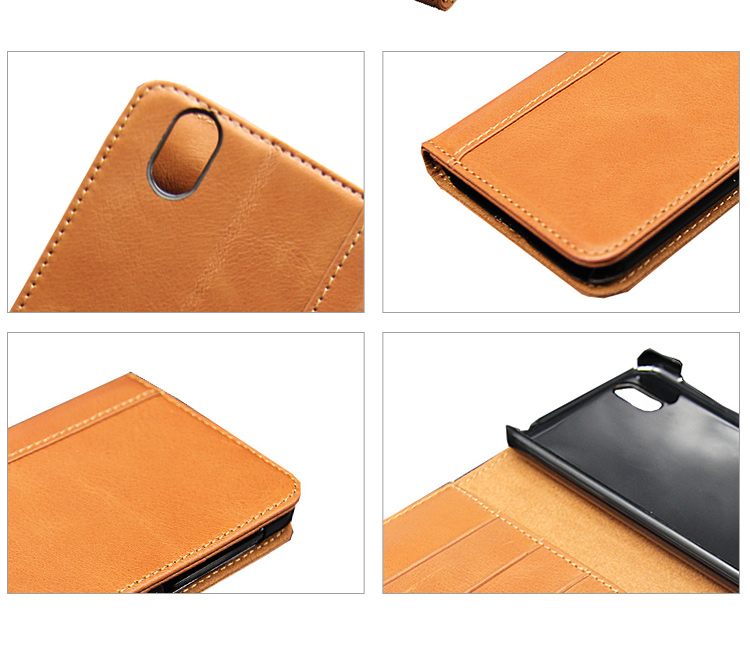 New arrival shockproof flip genuine leather phone case with stand card slot for Sharp AQUOS Audroid S3