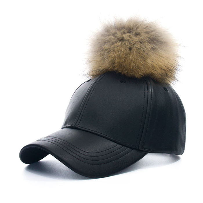panel black fur baseball cap faux leather ball rabbit hat kangol furgora