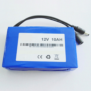 Customized Lipo Rechargeable Battery 10Ah 12V Lithium Polymer Battery Pack For LED Lighting