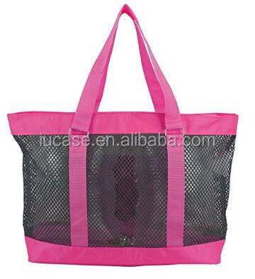 Portable Large Capacity Womens Shower Caddies Mesh Beach Tote