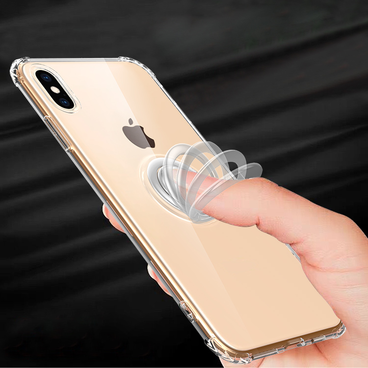 2019 Newest popular press elastic magnetic ring holder cell phone case cover for iphone x xr xs max 6 7 8 plus фото