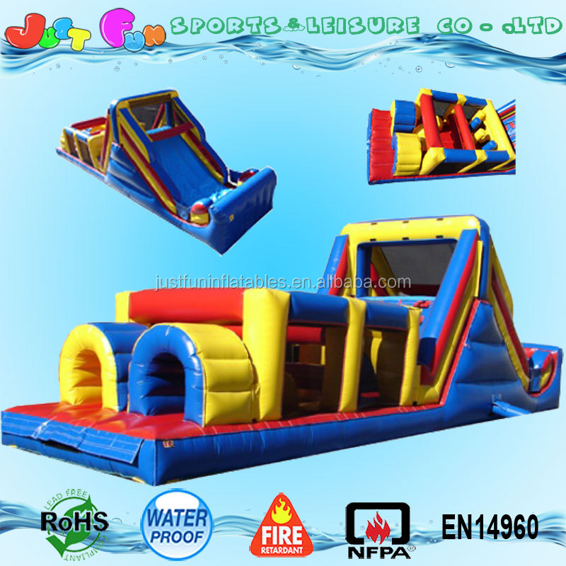 Commercial kids inflatable obstacle course for sale outdoor toys inflatable obstacle course equipment