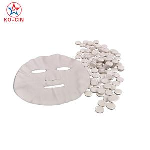 jelly candy compressed coin disposable 100% cotton facial mask exw factory price