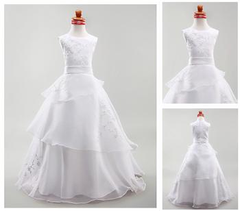 b6422e1a19f 2016 New Style Flower Girl Dress Girl Party Wear Western Dress Birthday  Dress for