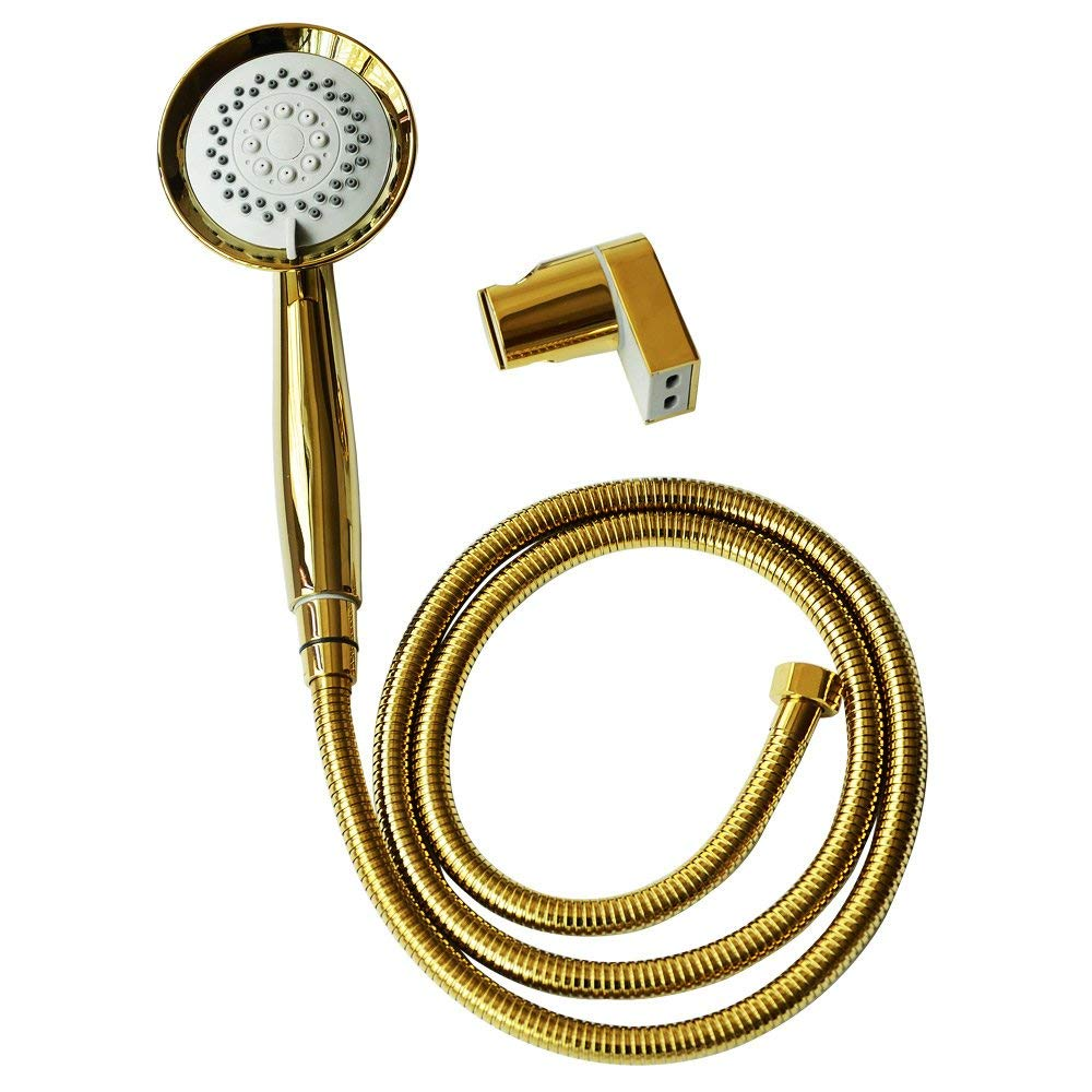 ThreeE Kink-free Shower Hose for Handheld Showerhead Replacement Anti-twist Stainless Steel Metal Shower Hose Extension 360 Degree Swivel with 2 BRASS//COPPER Connectors Brushed Nickel 59 Inches