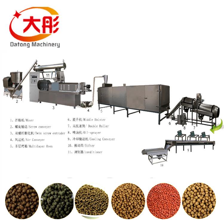 Máquina automática de alimentación de peces máquinas de fabricación de la línea de producción de peces pellet máquina de alimentación