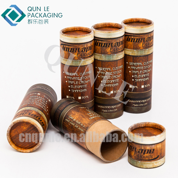 Popular Round E Cigarette Kraft Paper Packing Tube Boxes Made in China