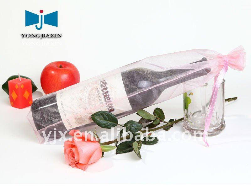 organza wine bottle bags for gift wrapping