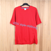 Promotional 2017 new trend women's tee shirt red