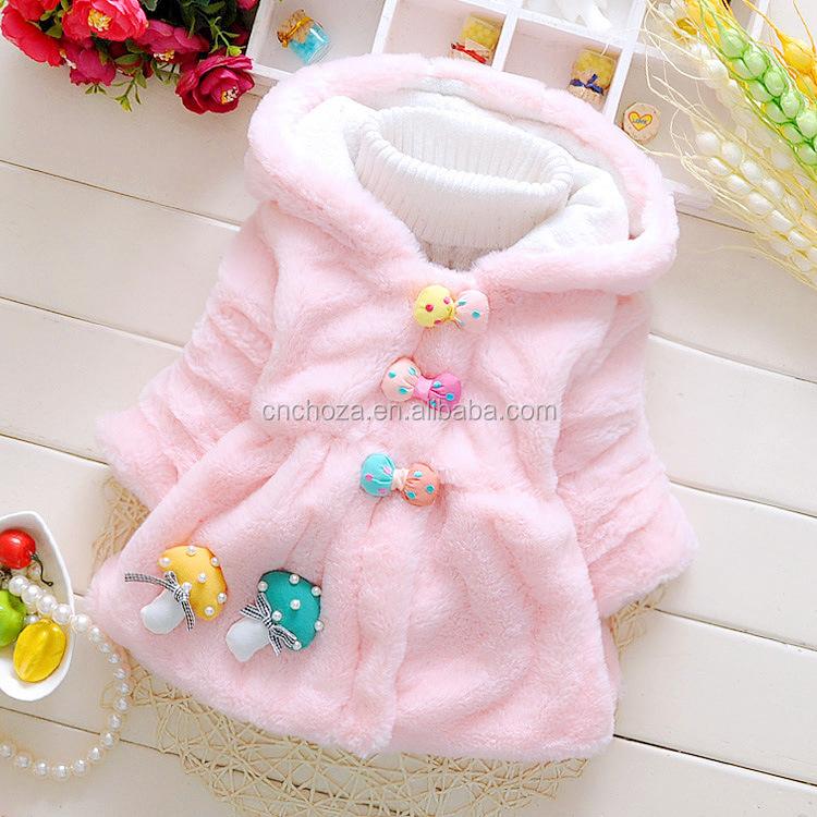 ad0816377d41 Z10235b New Baby Girls Outerwear Hot Sale Warm Bowknot Button Fancy ...