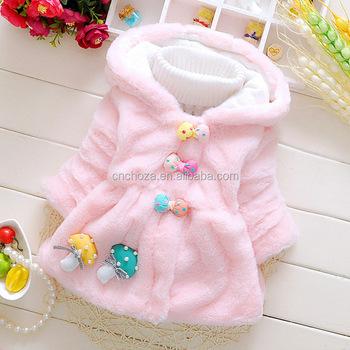 39695ddbd7086 Z10235B New Baby Girls Outerwear Hot Sale Warm Bowknot Button Fancy Girls  Coats