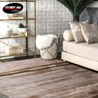 wholesale indoor rugs light brown viscose carpet hallway non-slip rug
