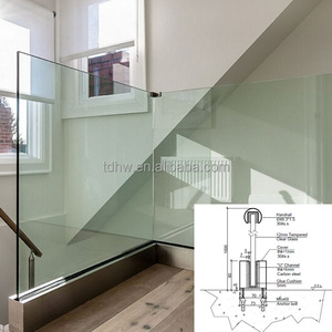 stainless steel clad u channel shoe base glass railings