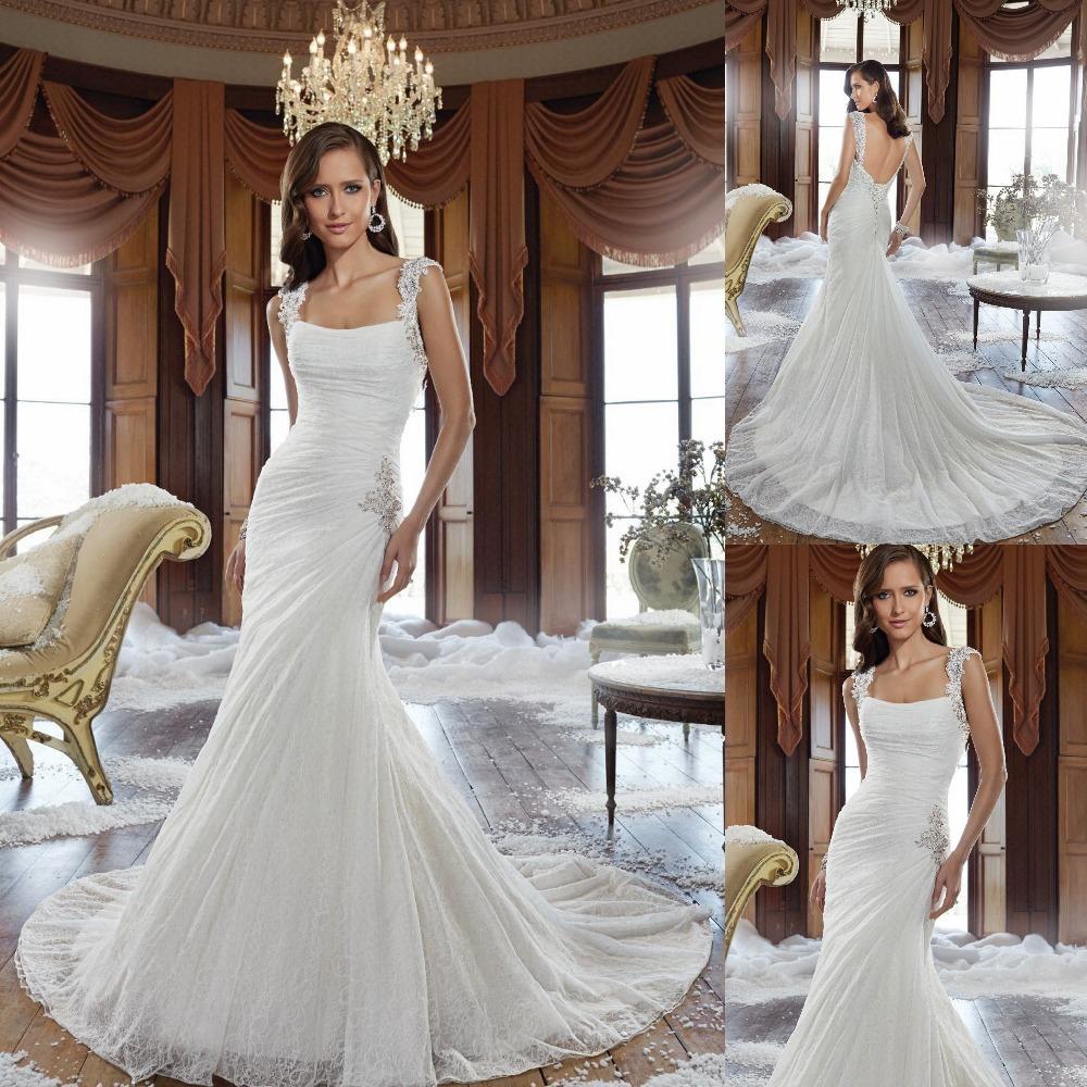 Simple And Elegant Wedding Dress Low Back Gorgeous Corset ...