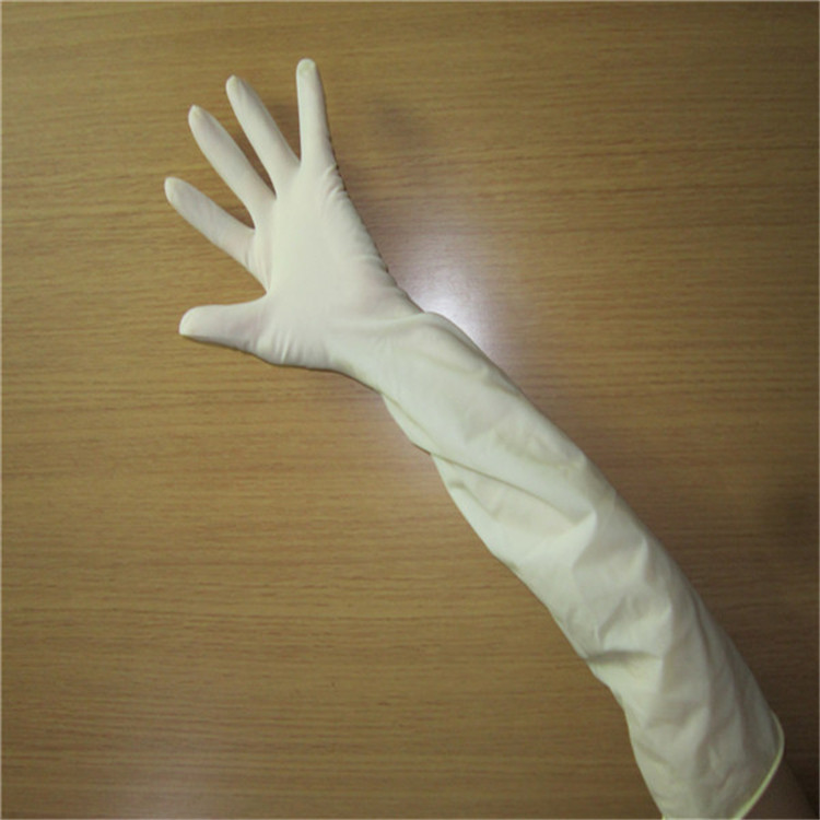 Latex Elbow lenghth sterile powder free women examination Surgical gynaecology gloves
