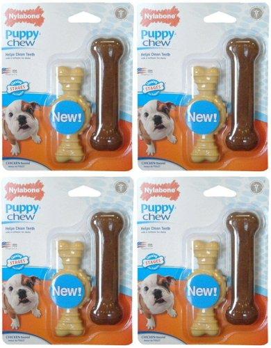 Nylabone Dura Chew Ring Bone & Puppy Chew Bone Twin Pack Dog Toy