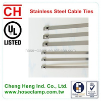 Stainless Steel Type Cable Tie For Electrical Wiring Accessories Banding