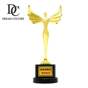 custom Metal gold award world sport angle wings cup trophy