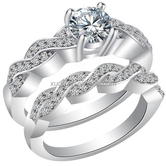 free shipping engagement and wedding ring set zircon rings set