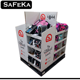 4 side Floating Pop Floor Stand Shelf Folding Free Standing High Quality Cardboard school bag pallet display with pockets