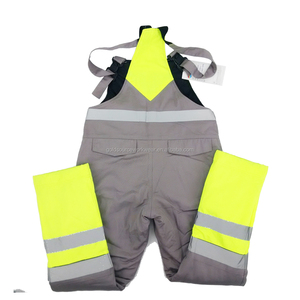 Hi Vis Workwear Overalls Mens Winter Work Bib Pants