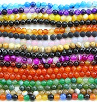 Factory direct sale Natural semi precious Stone Beads 4-12mm loose Bead make bracelet