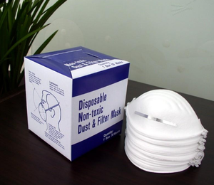 general purpose DISPOSABLE nonwoven dust mask with box packing