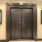 High-end Main Entrance Double Copper Front Brass Luxury Doors design