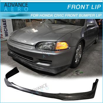 For Honda Civic Eg 2dr 3dr Evo Style Poly Urethane Auto Part Car  Accessories 1992 1993 1994 1995 - Buy For Honda Civic Eg Bumper Lip Pu  92-95,For