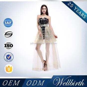 Creative Design Black Short Long Tail Prom Dress 2015 - Buy Prom ...