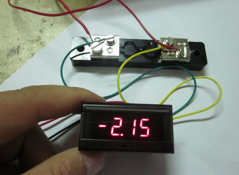 Digital Amp Meter Panel : Small dc ammeter 10a 20a 30a 50a buy small dc current meter