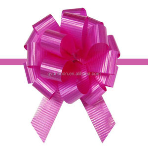 Laminated Hongkong Pull Ribbon Bow For Wrapping Christmas Tree/Birthday Cake/giant bow for car