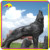 KANO1076 Outdoor Playground Fantastic Life Size Wolf Sculpture