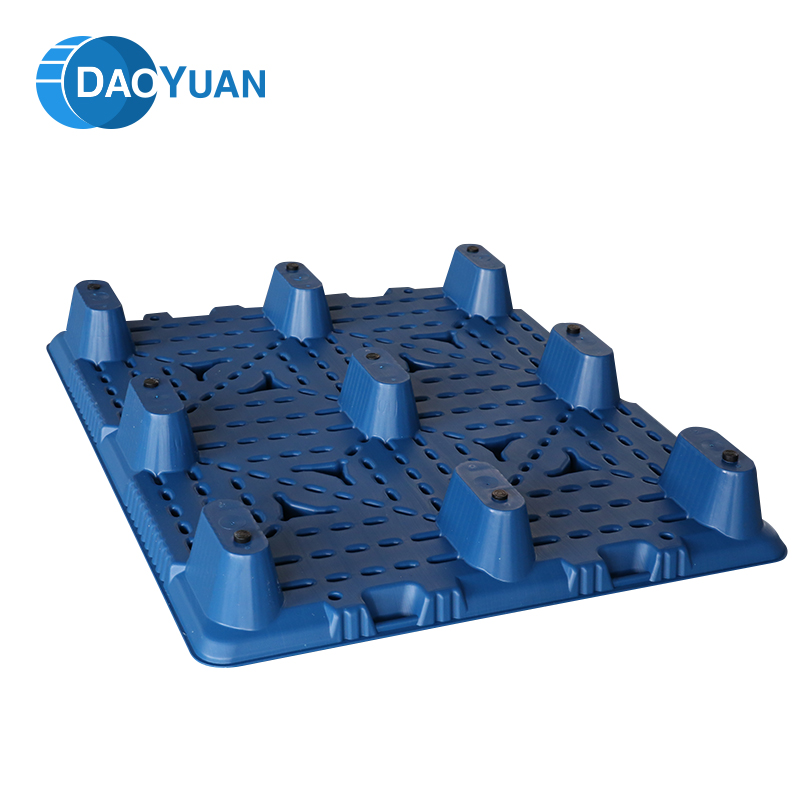 Professional standard HDPE stacking single faced plastic euro pallets
