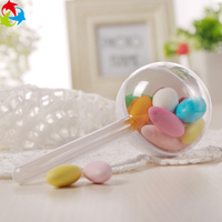 Hot Sale Food Grade Clear Biodegradable Plastic Round Shaped Candy Box