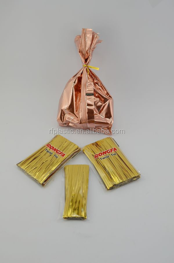 Bread Bag Twist Tie And Plastic Metallic For Gift