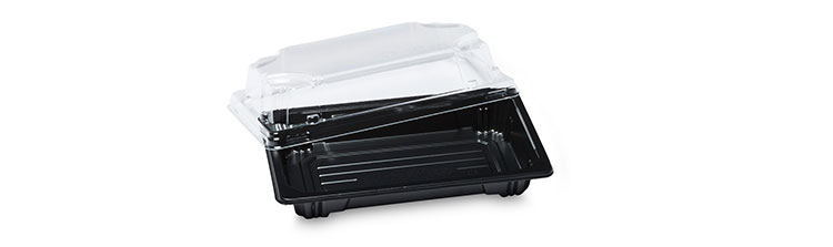 Harvest HP-00 disposable plastic sushi food container tray take out with printing custom