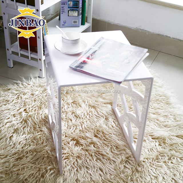 JINBAO Foldable Clear Acrylic Tea Table Lucite Desk/Transparent Coffee Table
