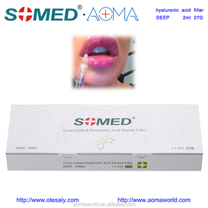 Somed Injectable Hyaluronic Acid 2ML Deep Lines HA Dermal Filler Injection