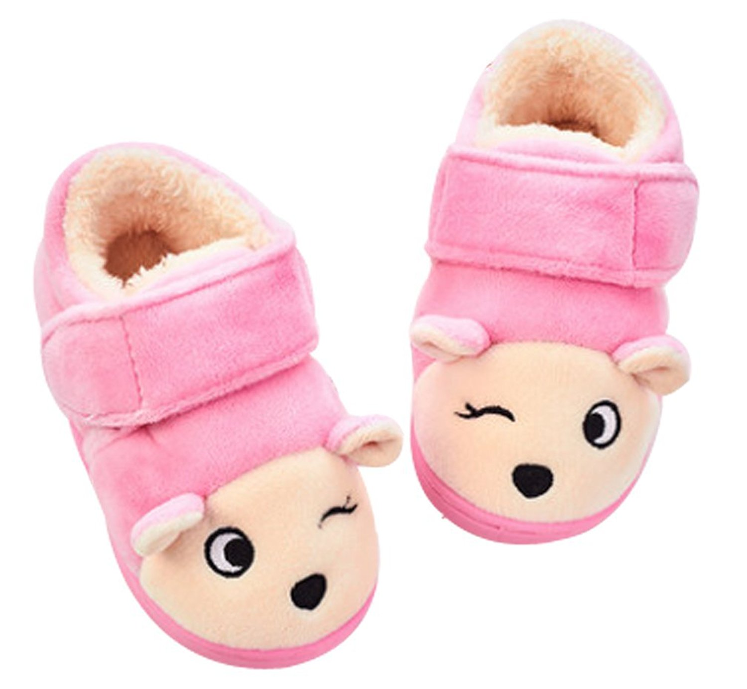 Cattior Animal Fur Lined Warm Slipper Shoes Cute Indoor Slippers House Shoes Toddler